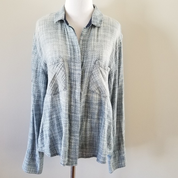 Anthropologie Cloth & Stone Woven Button Down Top